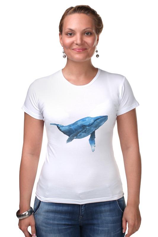 Футболка Стрэйч Printio Синий кит футболка для беременных printio кит ричардс