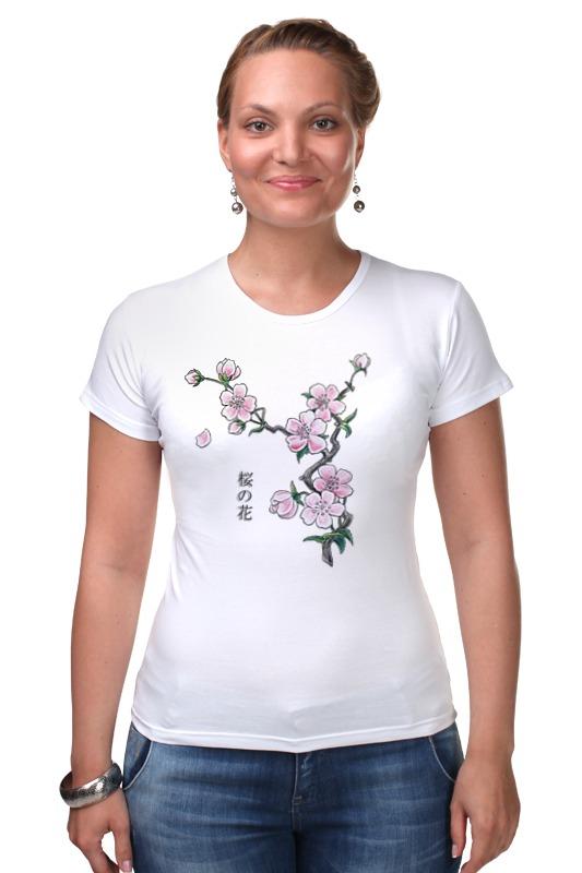 Футболка Стрэйч Printio Японская сакура отдушка косметическая цветы сакуры 10гр