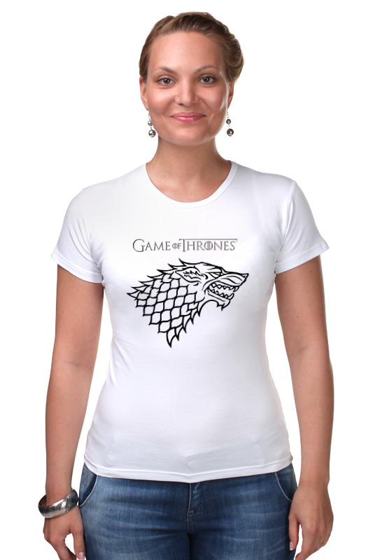 Футболка Стрэйч Printio Game of thrones: stark футболка для беременных printio game of thrones stark