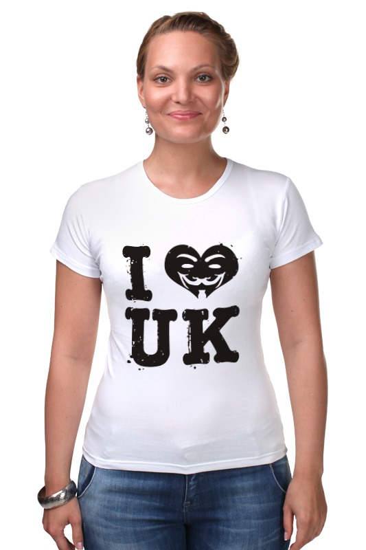 Футболка Стрэйч Printio Uk love suck uk