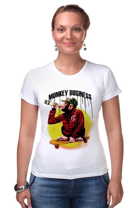 Футболка Стрэйч Printio Monkey (обезьяна) футболка стрэйч printio моряк попай