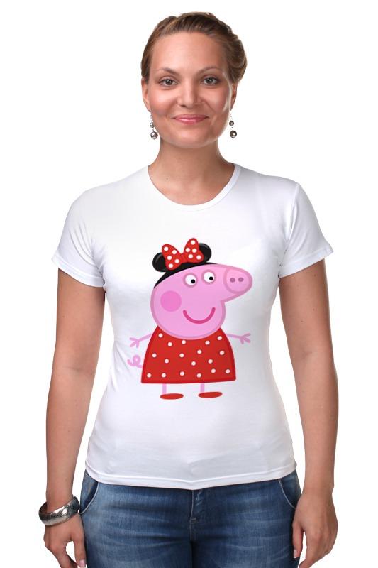 Футболка Стрэйч Printio Peppa pig свинка пеппа посуды королевское чаепитие peppa pig