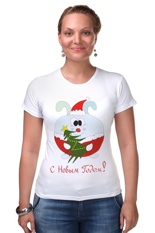 Футболка Стрэйч Printio Новогодний заяц футболка для беременных printio новогодний лось