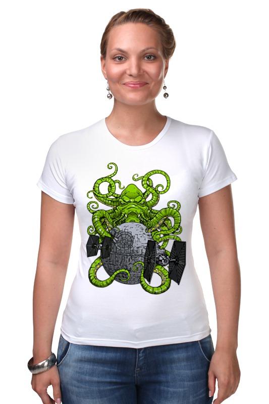 Футболка Стрэйч Printio Ктулху (звезда смерти) футболка для беременных printio ктулху звезда смерти