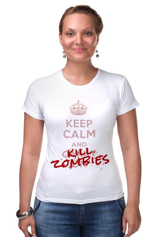 Футболка Стрэйч Printio Kill zombies мягкие игрушки plants vs zombies котенок 15 см