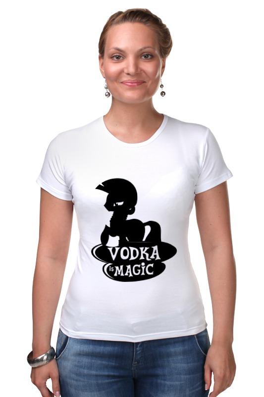 Футболка Стрэйч Printio Vodka is magic расческа tangle teezer compact styler pink kitty 1 шт