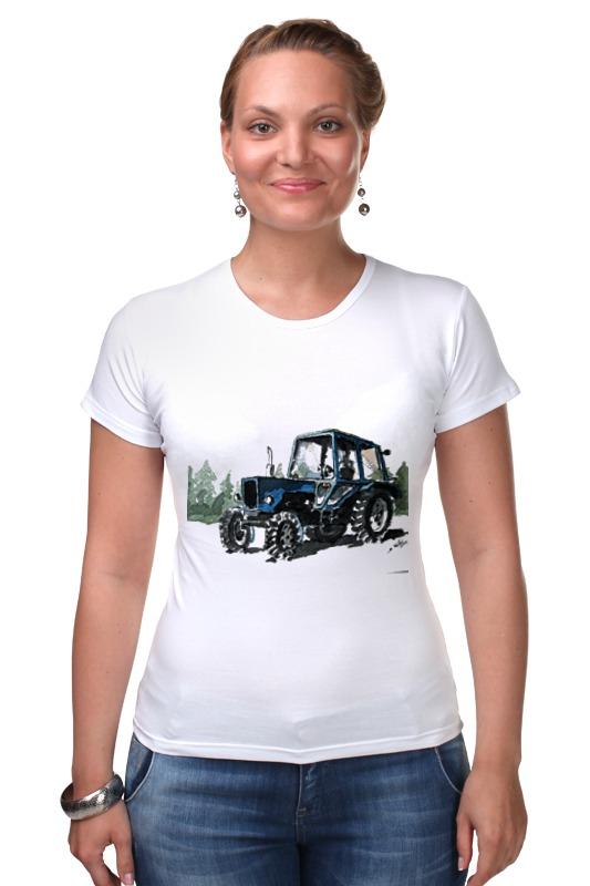 Футболка Стрэйч Printio трактор от михаила доманова отсутствует автомир 35 2017
