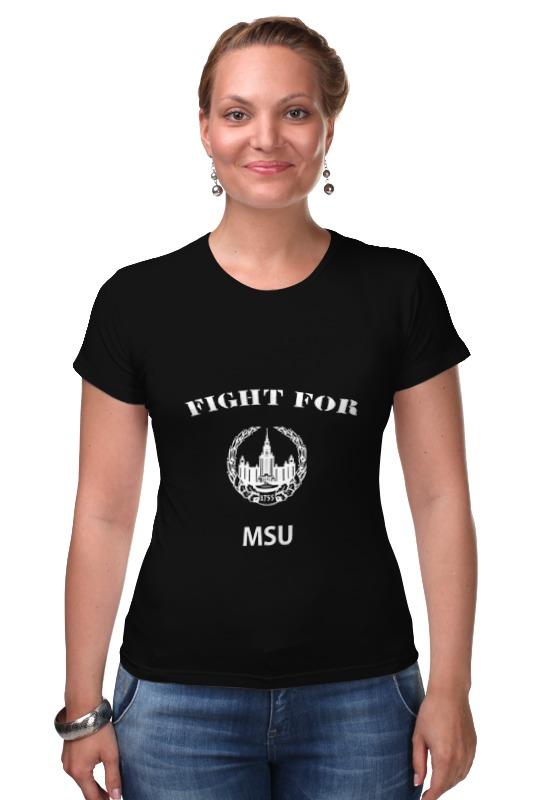 Футболка Стрэйч Printio Fight for msu цена и фото