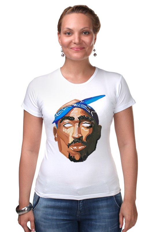 Футболка Стрэйч Printio Тупак (2pac) футболка wearcraft premium printio 2pac tupac