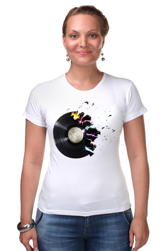 Футболка Стрэйч Printio Виниловая пластинка футболка для беременных printio виниловая пластинка