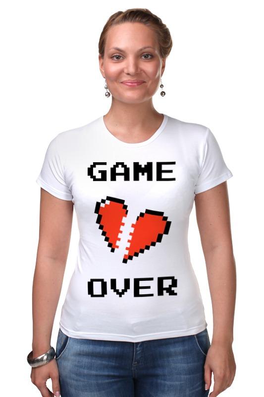 Футболка Стрэйч Printio Game over (игра окончена) r12 sexy game