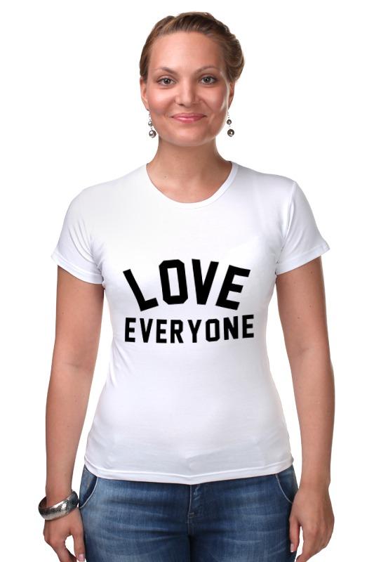 Футболка Стрэйч Printio Любить всех футболка для беременных printio любить всех