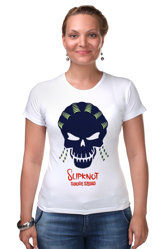Футболка Стрэйч Printio Слипкнот (отряд самоубийц) футболка рингер printio слипкнот  отряд самоубийц