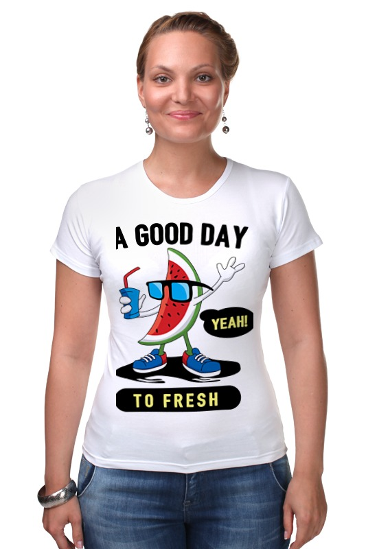 Футболка Стрэйч Printio A good day to fresh good to a fault