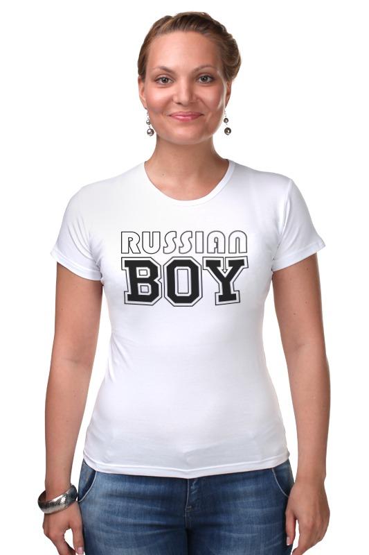 Футболка Стрэйч Printio Russian boy russian phrase book