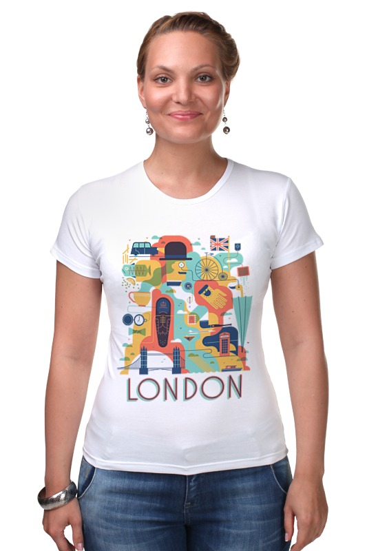 Футболка Стрэйч Printio Лондон как дешевые билеты в лондон