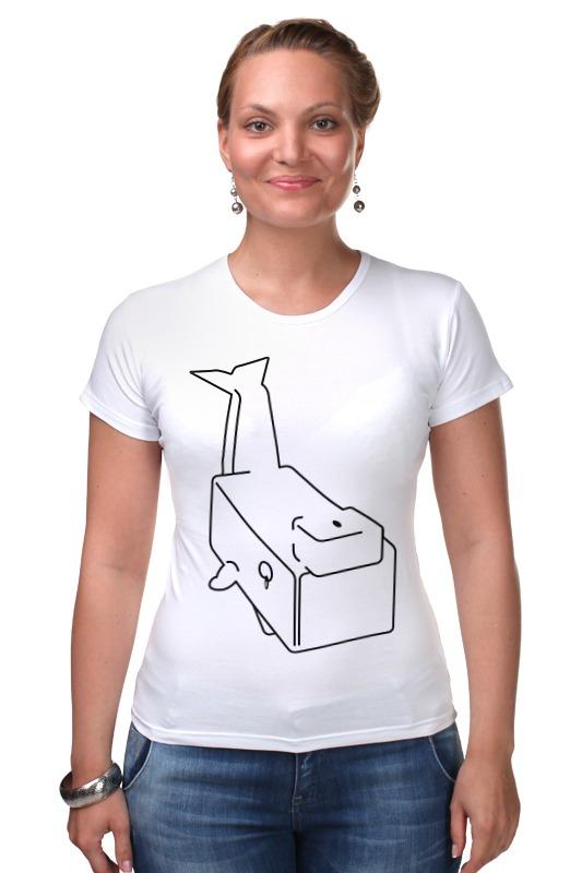 Футболка Стрэйч Printio Моби дик (белый кит) футболка стрэйч printio кит ричардс