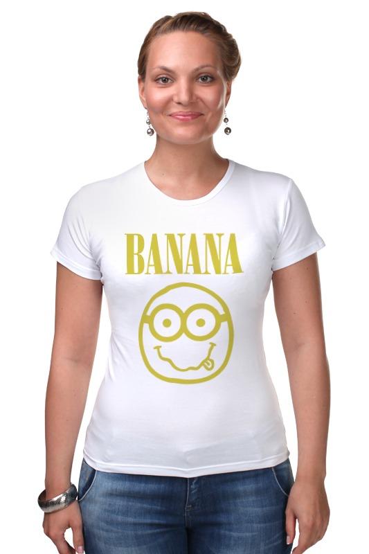 Футболка Стрэйч Printio Banana smile