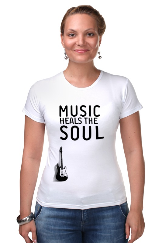 Футболка Стрэйч Printio Music heals the soul футболка рингер printio two wheels move the soul