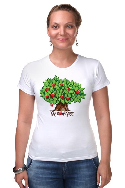 Футболка Стрэйч Printio Icalistini the love tree дерево любви