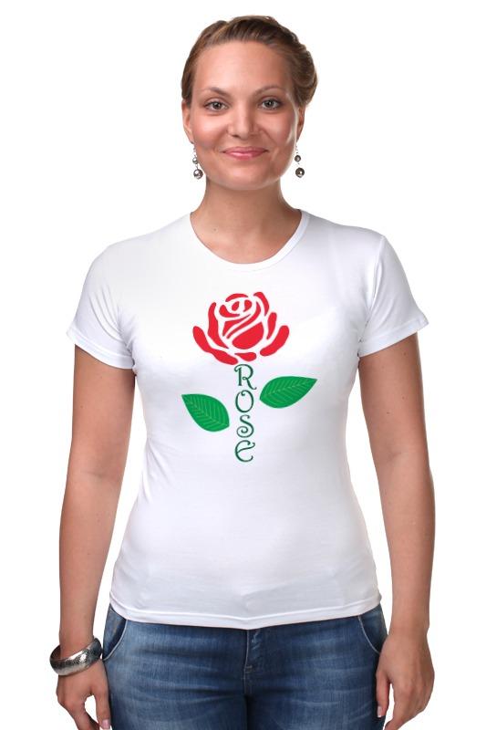цена Футболка Стрэйч Printio Роза (rose) онлайн в 2017 году