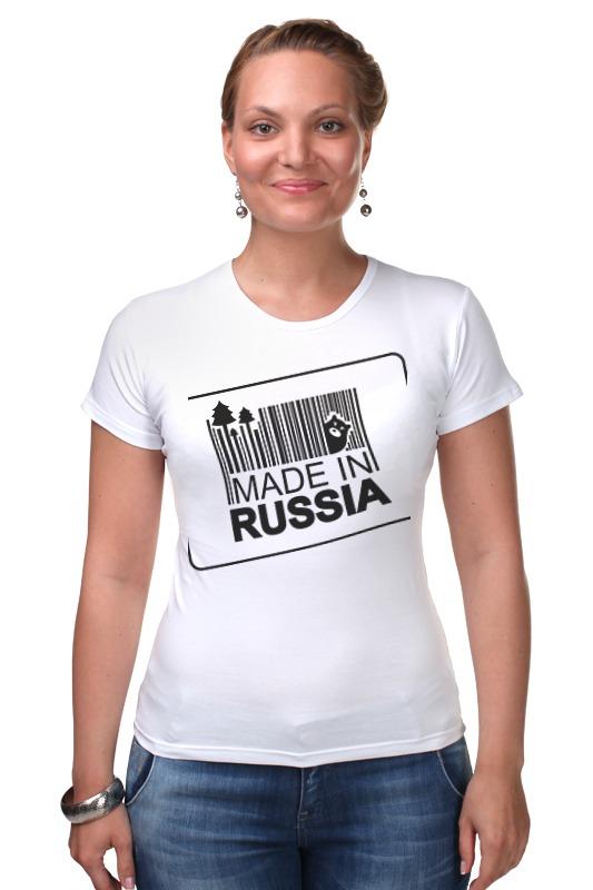 Футболка Стрэйч Printio Made in russia russia made матрешка 5м совушка вариант a