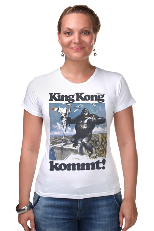 Футболка Стрэйч Printio King kong футболка стрэйч printio kong is king кинг конг