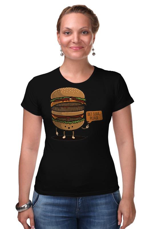 Футболка Стрэйч Printio Diet burger / бургер фартук printio no diet
