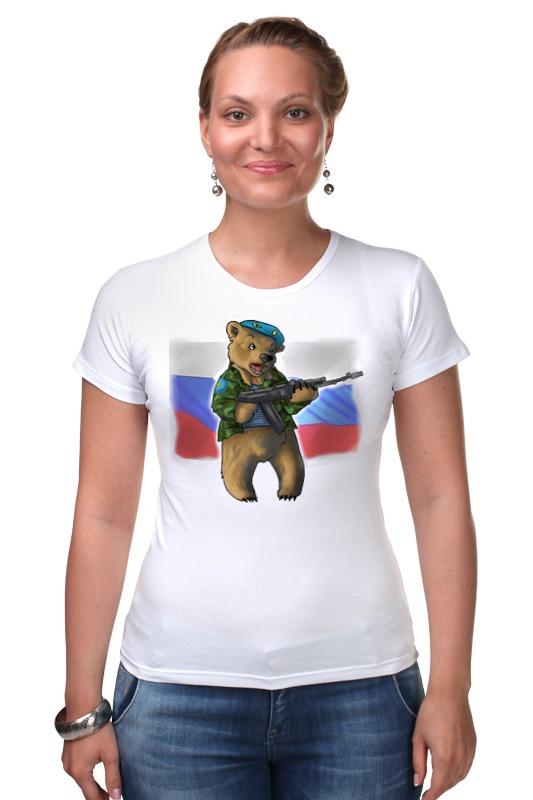 Футболка Стрэйч Printio Russian bear russian phrase book