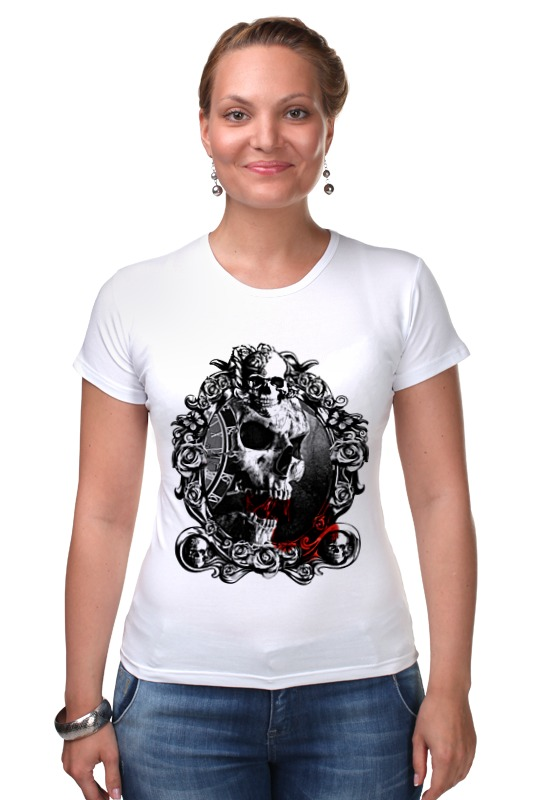 Футболка Стрэйч Printio Skull - 13 футболка стрэйч printio skull cowboy