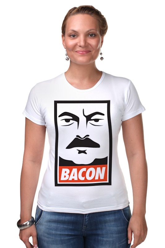 Футболка Стрэйч Printio Bacon (obey) francis bacon in your blood