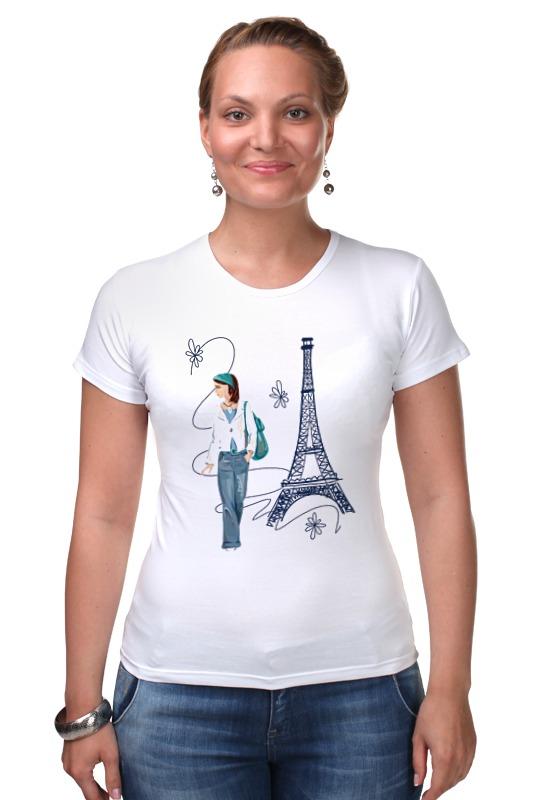 Футболка Стрэйч Printio Парижанка макет эйфелевой башни спб