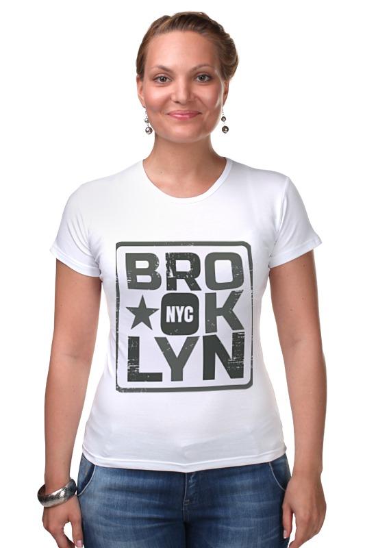 Футболка Стрэйч Printio Brooklyn found in brooklyn