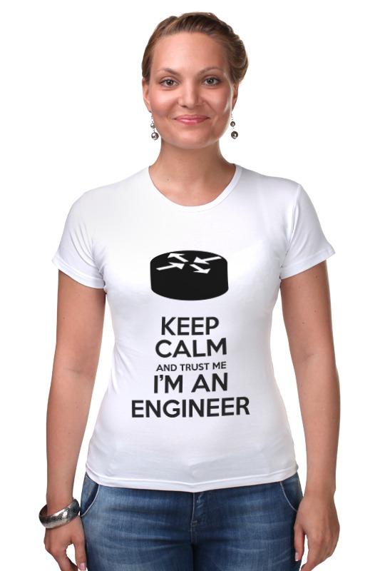 Футболка Стрэйч Printio Keep calm and trust me i'm an engineer(gray) sahar cases чехол keep calm and love me iphone 5 5s 5c