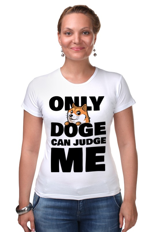 Футболка Стрэйч Printio Only doge can judge me only a promise