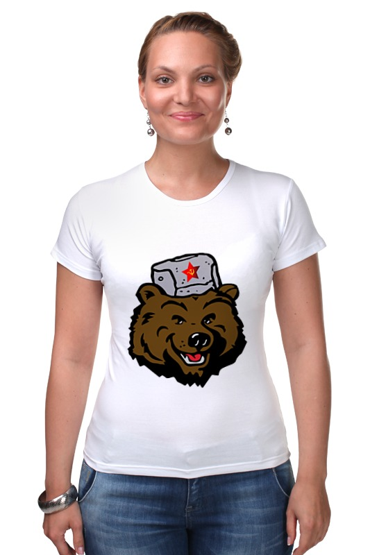 Футболка Стрэйч Printio Russian bear (русский медведь) лонгслив printio bear beer медведь и мед