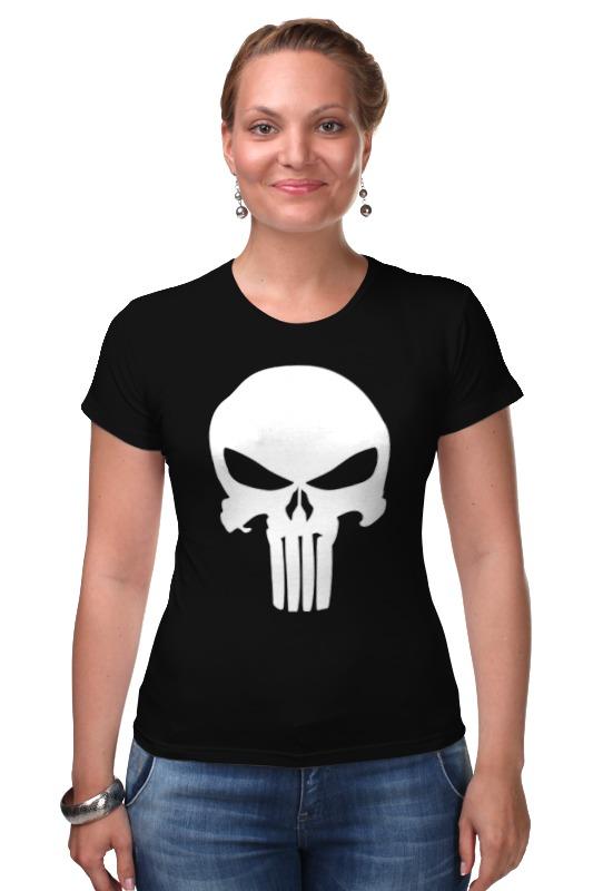 Футболка Стрэйч Printio Череп карателя худи print bar футболка с логотипом карателя