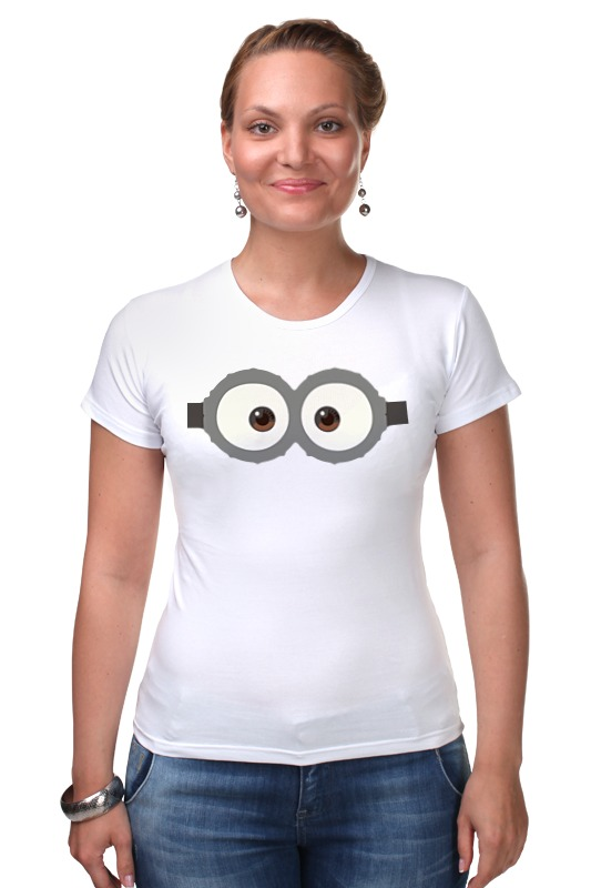 Футболка Стрэйч Printio Глаза миньона серая футболка для мальчика миньона 38