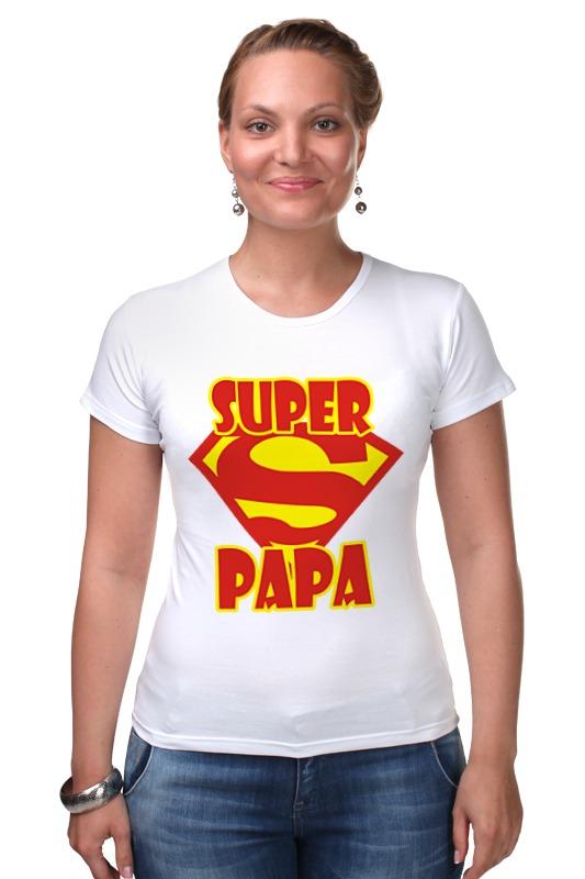 Футболка Стрэйч Printio Супер папа футболка стрэйч printio новый папа 2017 загрузка