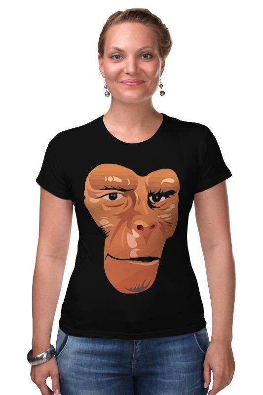 Футболка Стрэйч Printio Обезьяна (планета обезьян) футболка с полной запечаткой printio планета обезьян planet of the apes