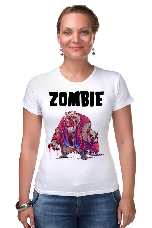 Футболка Стрэйч Printio Zombie cat