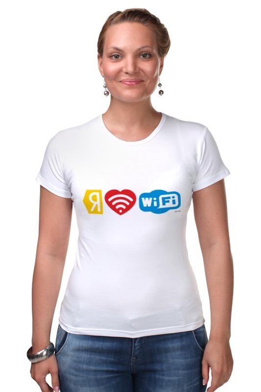 Футболка Стрэйч Printio I love wi-fi каталог яндекс газеты