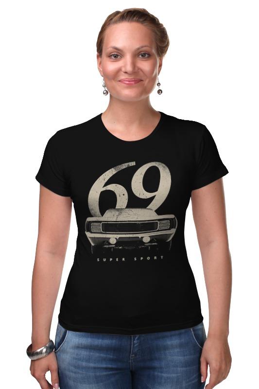 Футболка Стрэйч Printio Шевролет камаро 1969 - american muscle car купить шевролет колорадо авто ру