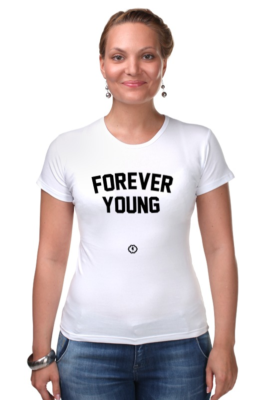 Футболка Стрэйч Printio Forever young by brainy roxy футболка forever young b