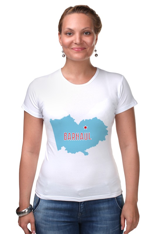 Футболка Стрэйч Printio Алтайский край. барнаул барнаул по акции шубу 58 размер женская в интернет магазине