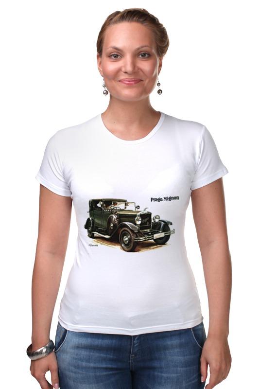 Футболка Стрэйч Printio Ретроавтомобили чартер для всех