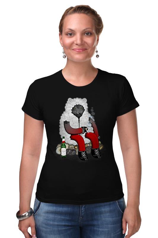Футболка Стрэйч Printio Волк в овечьей шкуре футболка wearcraft premium printio волк в овечьей шкуре