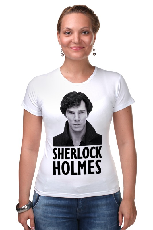 Футболка Стрэйч Printio Sherlock holmes дойл а приключения шерлока холмса the adventures of sherlock holmes