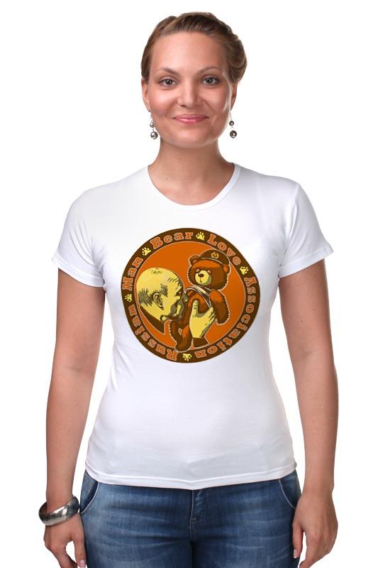 Футболка Стрэйч Printio Putin love russian bear футболка для беременных printio putin love russian bear