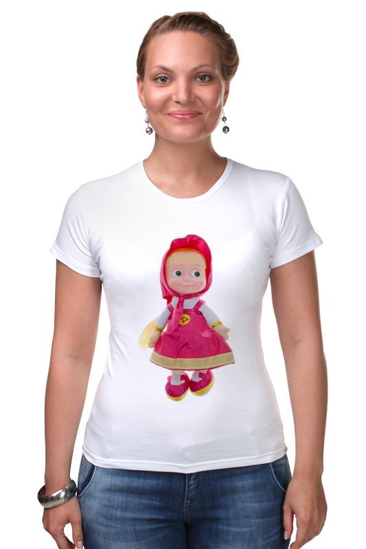 Футболка Стрэйч Printio Кукла-девочка маша из мульта. смешная озорная.